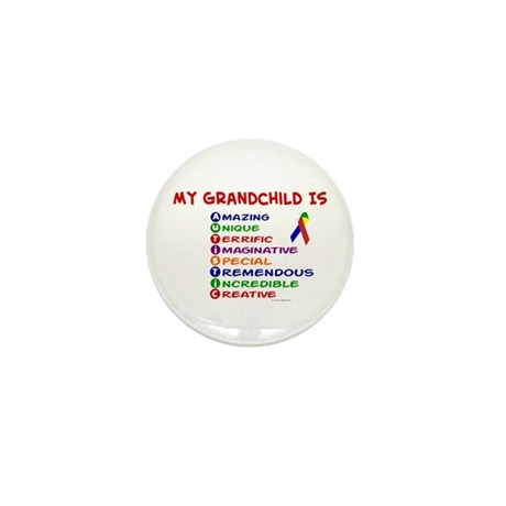 My GrandChild Is Autistic Mini Button (10 pack)