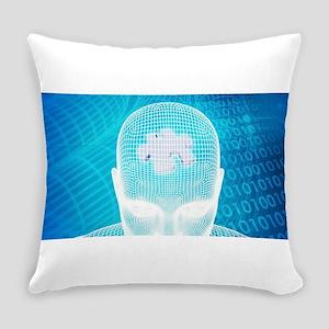 Futuristic Technol Everyday Pillow