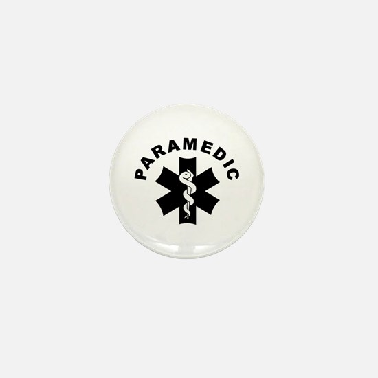 Paramedic Star Of Life Mini Button