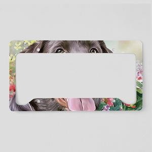 Labrador Painting License Plate Holder