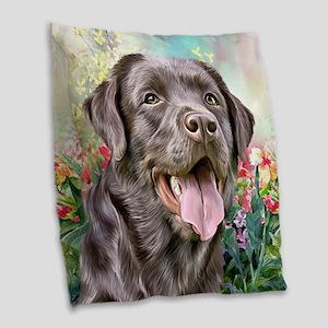 Labrador Painting Burlap Throw Pillow