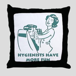 Funny Dental Hygiene Throw Pillow