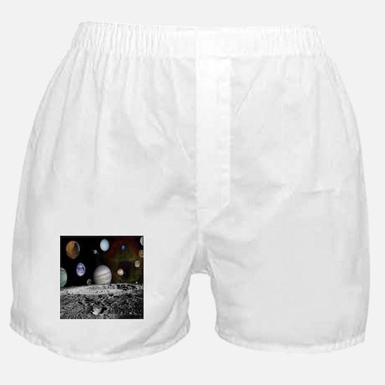Solar System Montage Boxer Shorts