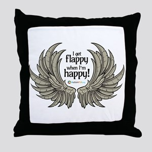 Autism Wings Throw Pillow