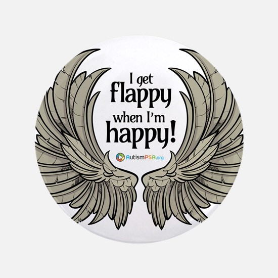 """Autism Wings 3.5"""" Button (100 pack)"""