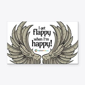Autism Wings Rectangle Car Magnet