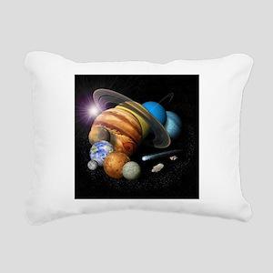 Solar System Montage Rectangular Canvas Pillow
