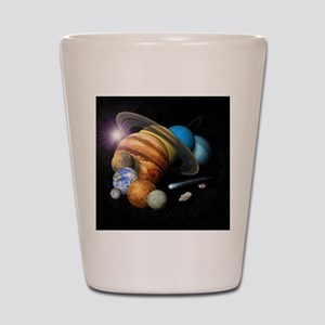 Solar System Montage Shot Glass