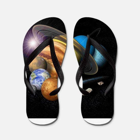 Solar System Montage Flip Flops