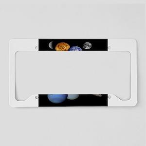 Solar System Montage License Plate Holder