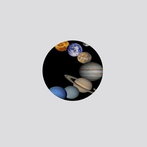 Solar System Montage Mini Button