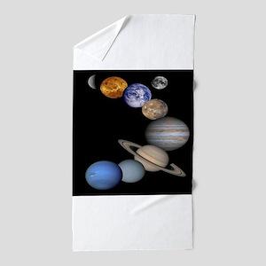 Solar System Montage Beach Towel