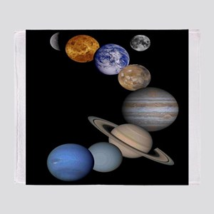 Solar System Montage Throw Blanket