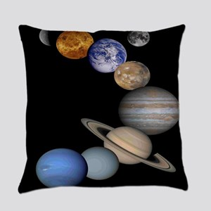 Solar System Montage Everyday Pillow