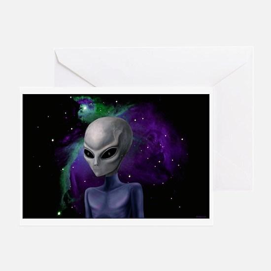 Alien Nebula - Blank - Greeting Card