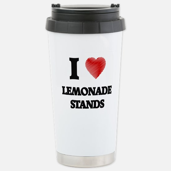 I love Lemonade Stands Stainless Steel Travel Mug