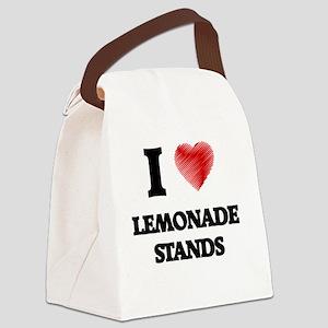 I love Lemonade Stands Canvas Lunch Bag