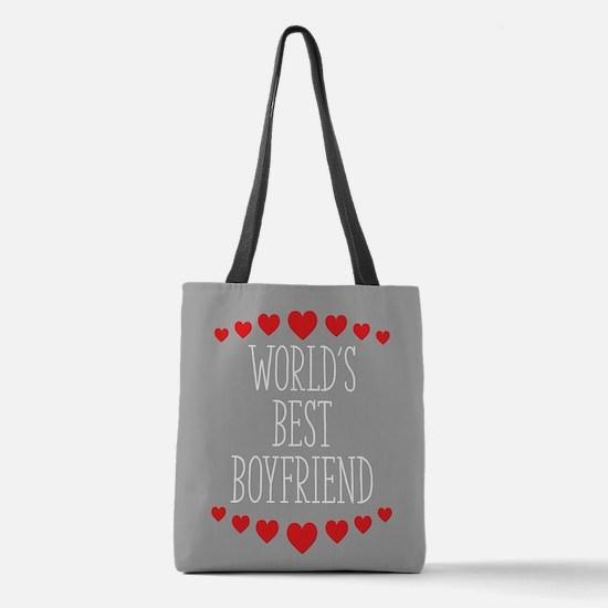 World's Best Boyfriend Polyester Tote Bag