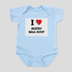I love Matzo Ball Soup Body Suit