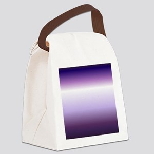 abstract lilac purple ombre Canvas Lunch Bag