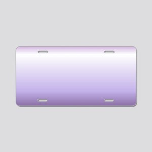abstract lilac purple ombre Aluminum License Plate