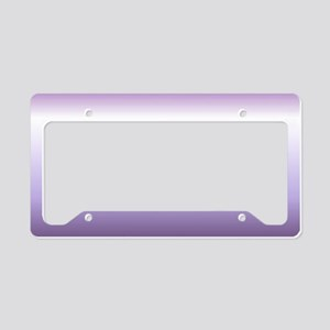 abstract lilac purple ombre License Plate Holder