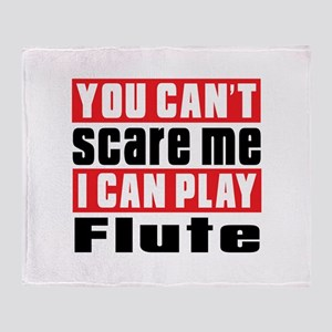 I Can Play Flute Throw Blanket