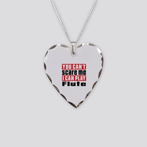 I Can Play Flute Necklace Heart Charm