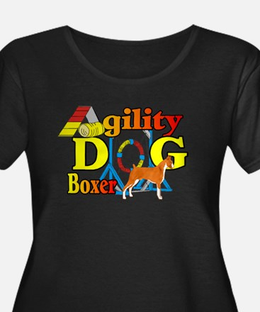 Boxer Agility Dog Plus Size T-Shirt