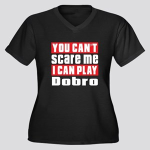 I Can Play D Women's Plus Size V-Neck Dark T-Shirt