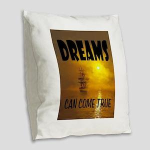 DREAMS Burlap Throw Pillow