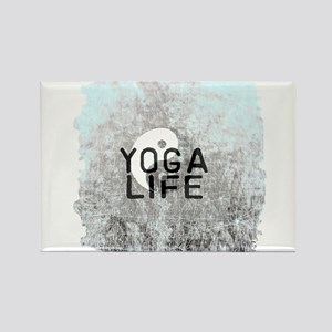 YOGA LIFE SCRATCHED EDGES GRAY Magnets