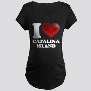 I Heart Catalina Island Maternity T-Shirt