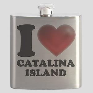 I Heart Catalina Island Flask