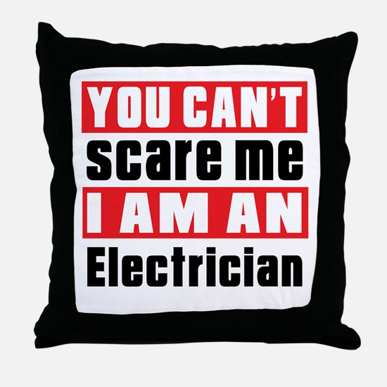 I Am Electrician Throw Pillow