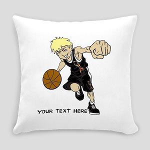 PERSONALIZED BASKET BOY AUTISM RIB Everyday Pillow