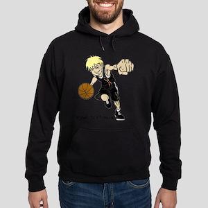 PERSONALIZED BASKET BOY AUTISM RIBBO Hoodie (dark)