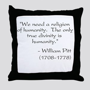 Freethought Quote Throw Pillow