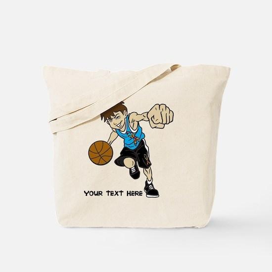 PERSONALIZED BASKET BOY AUTISM RIBBON Tote Bag