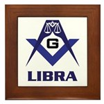 Masonic Libra Sign Framed Tile