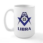 Masonic Libra Sign Large Mug