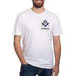 Masonic Libra Sign Fitted T-Shirt