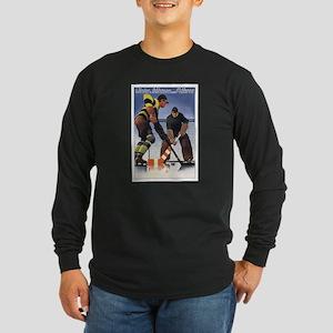 Vintage Czech Hockey Long Sleeve Dark T-Shirt
