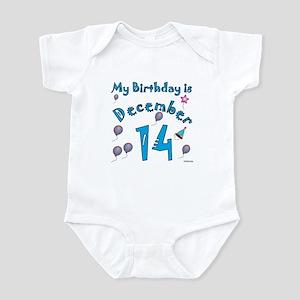 December 14th Birthday Infant Bodysuit