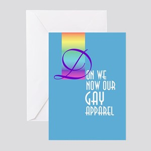 Don We Now 2 Greeting Cards