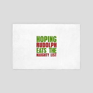 Funny Christmas Hoping Rudolf eats the 4' x 6' Rug