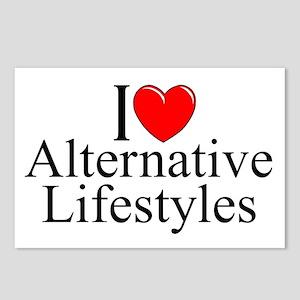 """I Love (Heart) Alternative Lifestyles"" Postcards"
