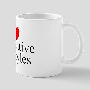"""I Love (Heart) Alternative Lifestyles"" Mug"