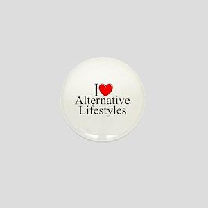 """""""I Love (Heart) Alternative Lifestyles"""" Mini Butto"""