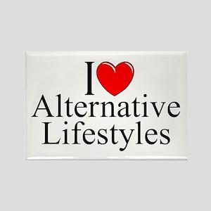 """I Love (Heart) Alternative Lifestyles"" Rectangle"